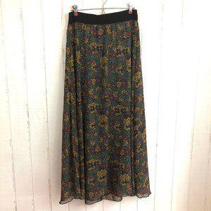 LULAROE Lucy Floral Print Maxi Skirt M